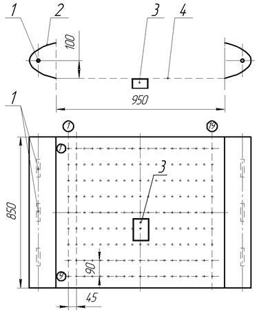 Схема расположения ПТП в