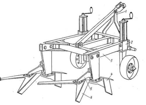 Схема культиватор кпп-8